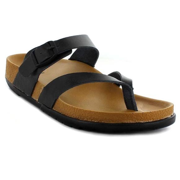4bfcab99c53 Aerosoft Strappy Comfortable Footwear Sandal Black